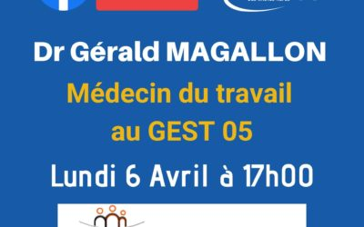 Replay FacebookLive Dr Gérald MAGALLON UPE 05
