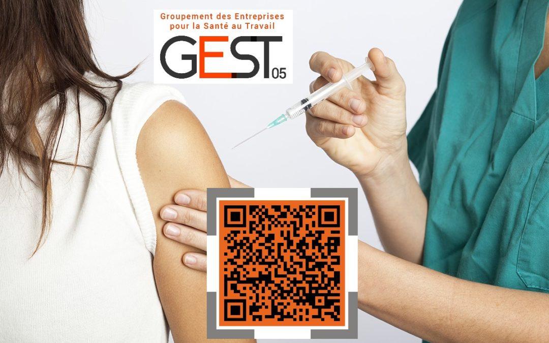 Affichage pour Inscription des salariés à la vaccination prioritaire